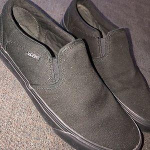New condition Black slip on Vans